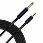Castline Gold 3.5mm TRS to 1/4 TS Mogami 2549 Stereo to Mono Summing Cable with Resistors